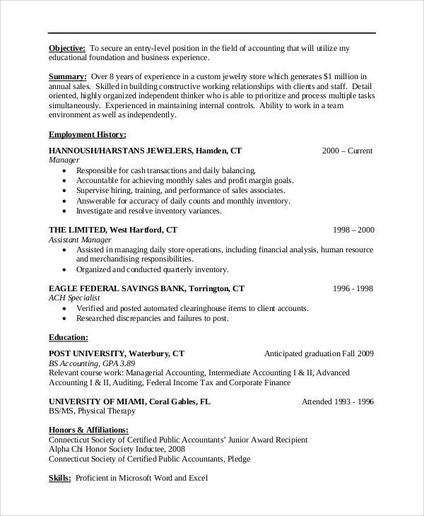 resume objective statement example free sample example format