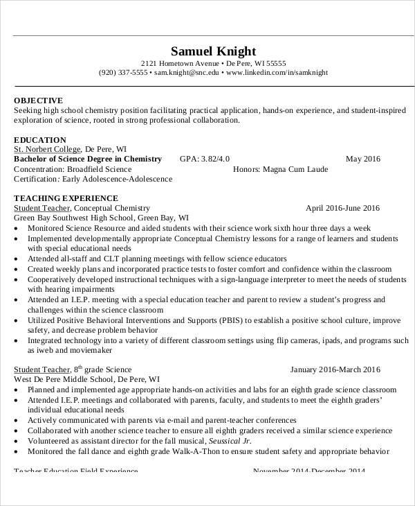 Examples of Resume Objectives