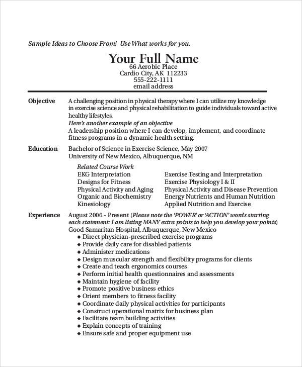 9  sample resume objective statement