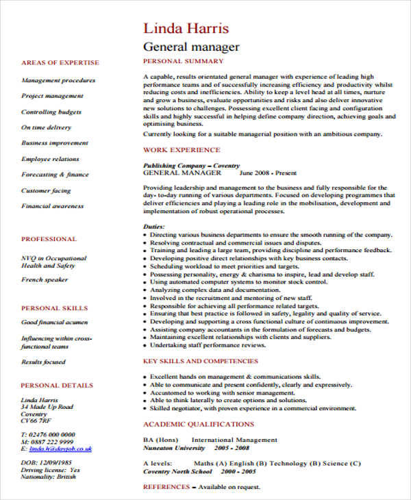retail general manager