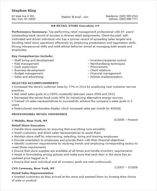 retail accomplishments on resume 28 images retail