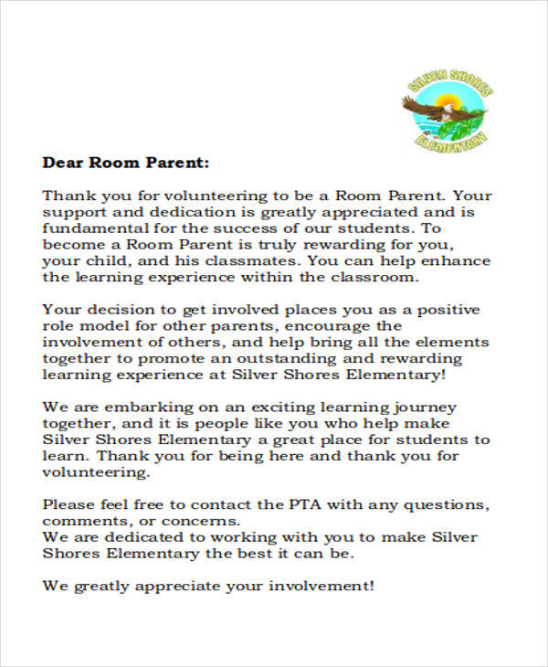 Thank You Note To Parents Heres The Form That Gets Attached So That