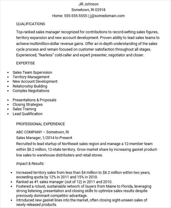 48+ Manager Resume Templates | Sample Templates