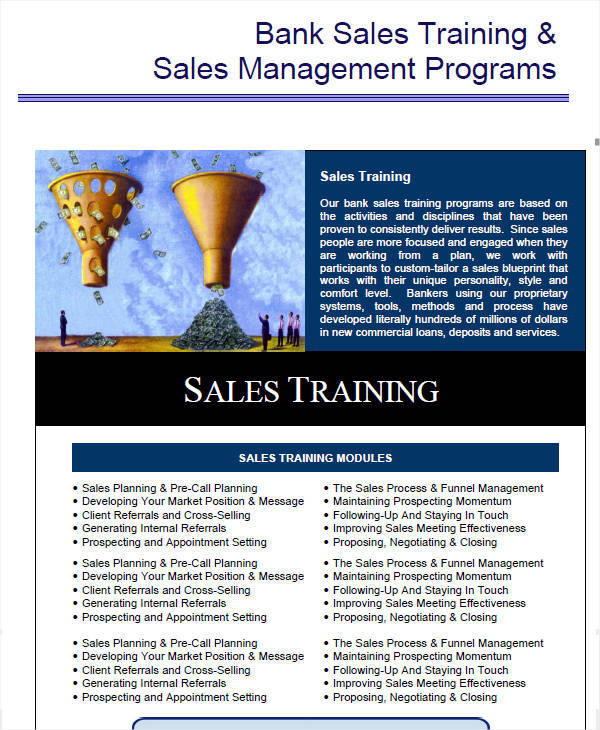 sales team training plan