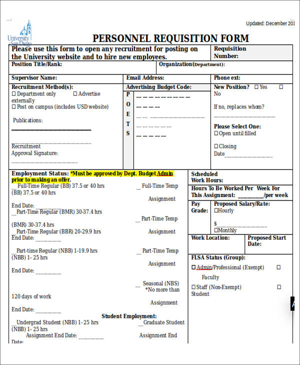 sample personnel requisition form1
