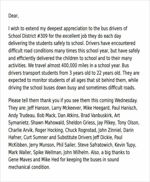 school bus driver appreciation letter2