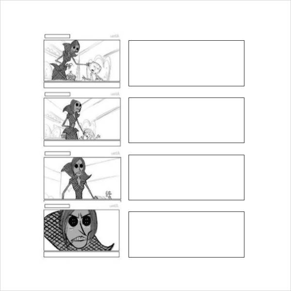 screenplay storyboard template
