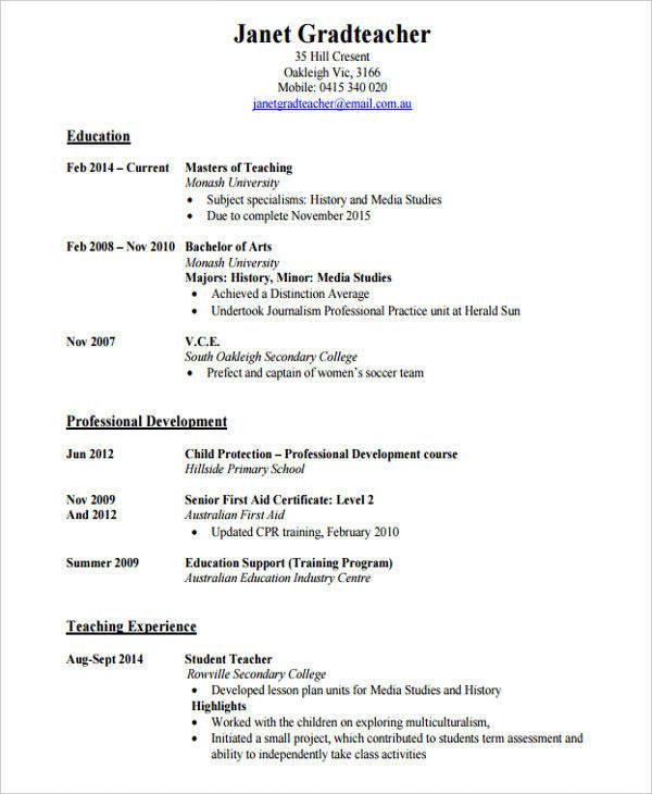 secondary school teacher resume1