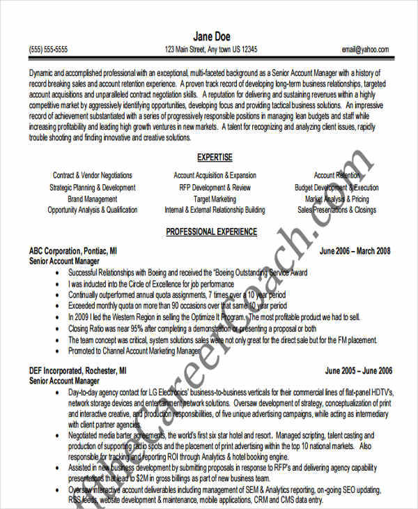 45 free manager resumes