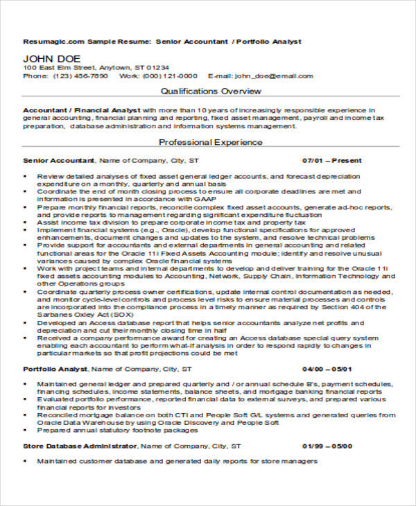 36  accountant resume samples