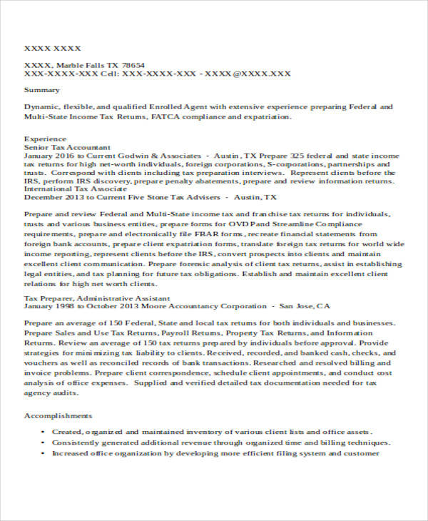 32 Accountant Resume Samples Cpa Resume Examples . Zotwee.info