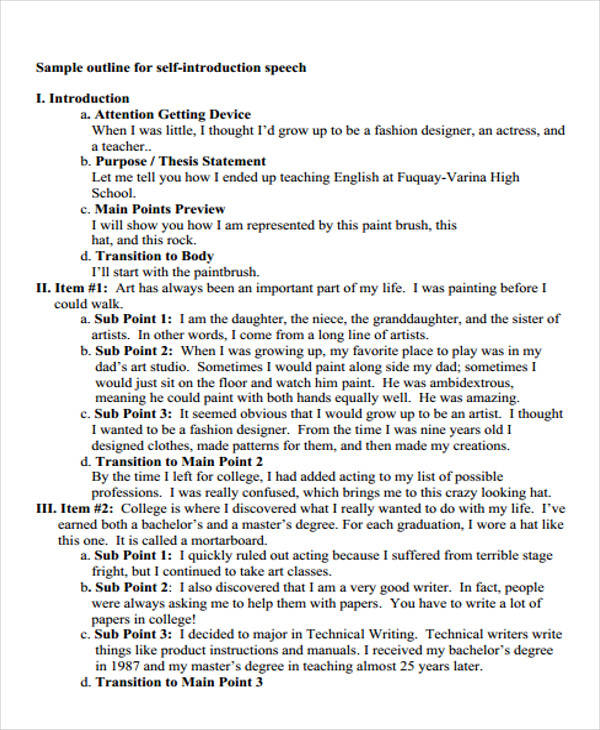 self disclosure speech outline Cmn111—speech: human communication 3 maintain conversations by taking turns, managing interaction, reciprocal conversation, and self-disclosure.