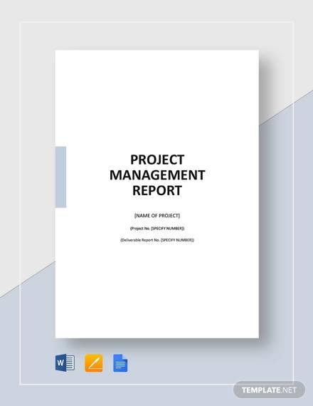 simple project management report