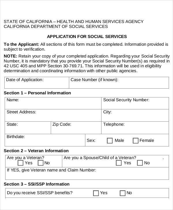 Sample Service Forms