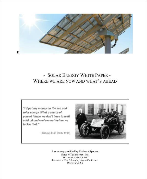 solar energy white paper2