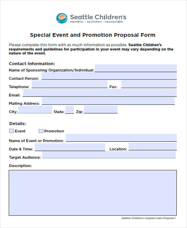 special event coordinator proposal1