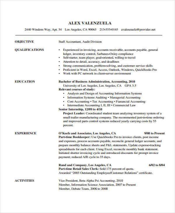 33 Accountant Resume Samples