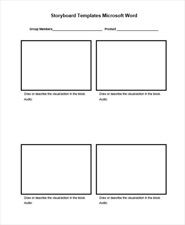 Vertical Storyboard Sample  Free Sample Example Format Download
