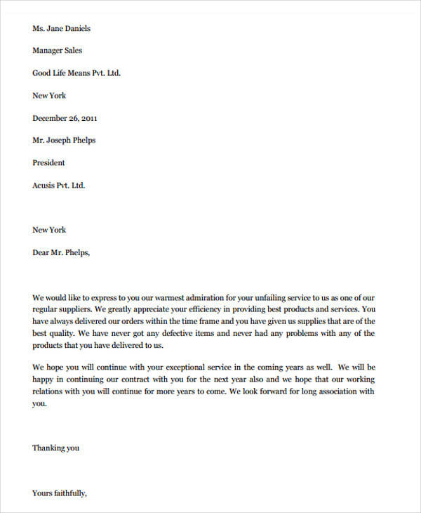 supplier performance appreciation letter1