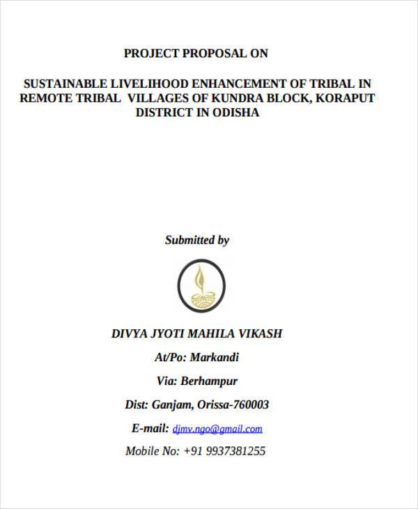 sustainable livelihood project