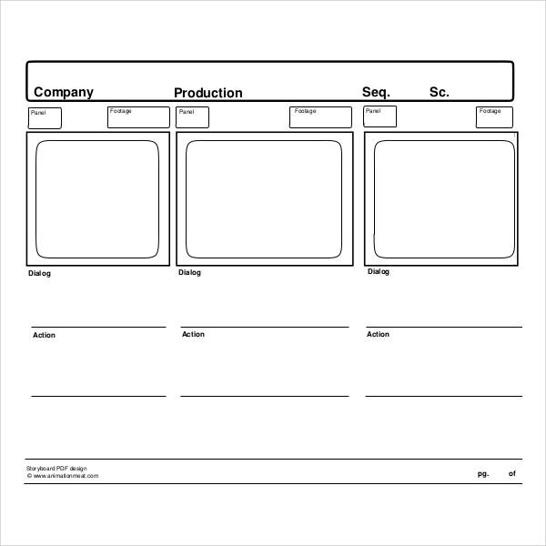 tv storyboard template