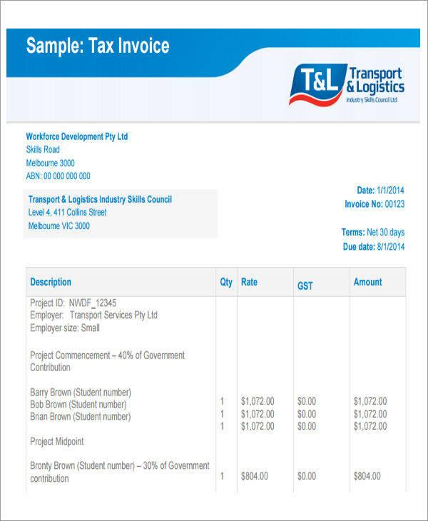 tax invoice pdf