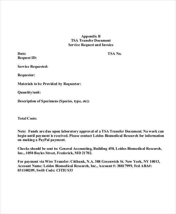 technical service agreement form