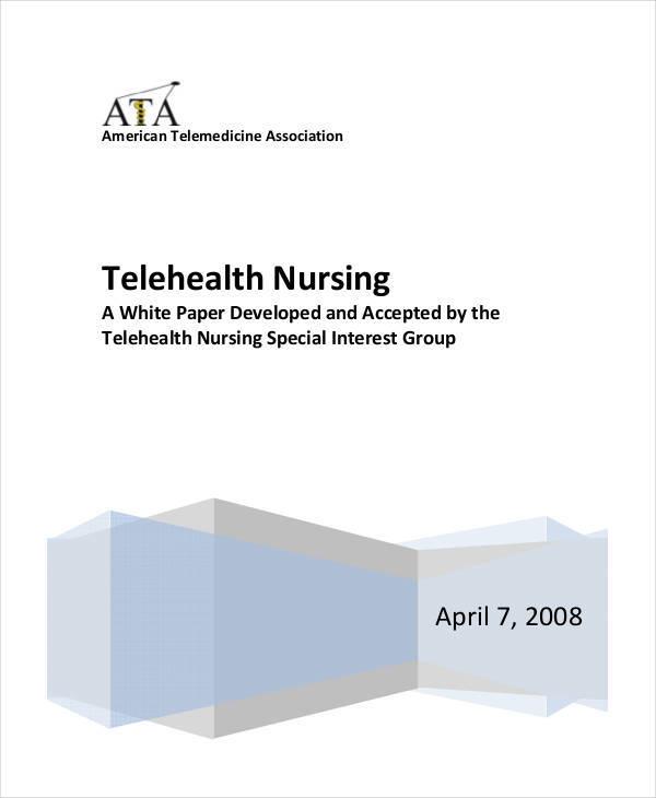 telehealth nursing white paper