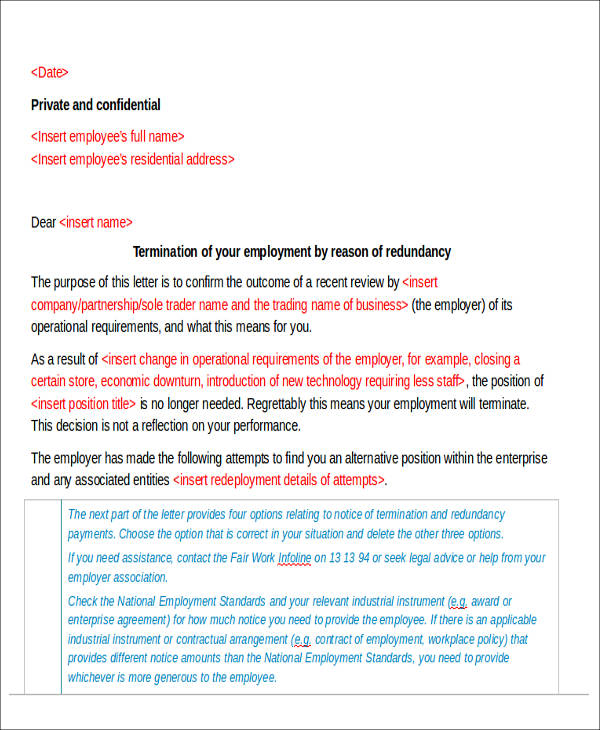 81 sample letters termination of employment letter spiritdancerdesigns Gallery