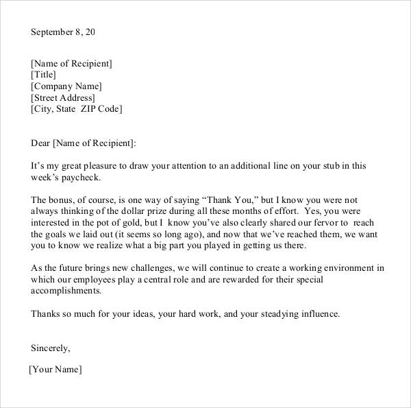 24  sample thank you letter templates to boss  u2013 pdf  doc