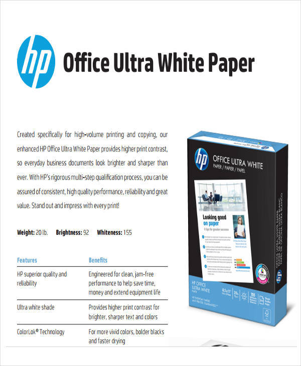 ultra bright white paper