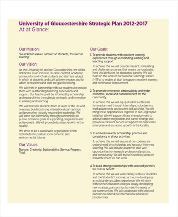 strategic marketing plan sample pdf