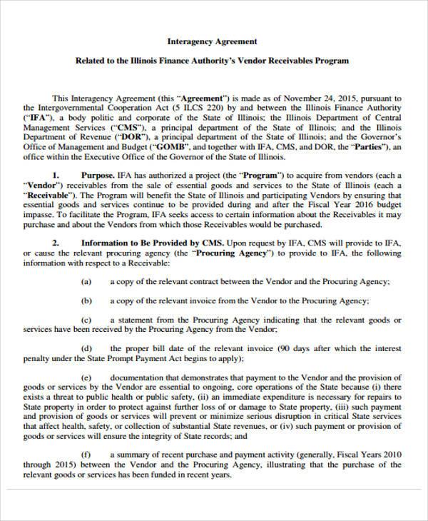 vendor finance agreement