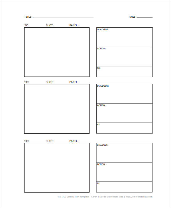 5+ Vertical Storyboard Sample - Free Sample, Example, Format Download