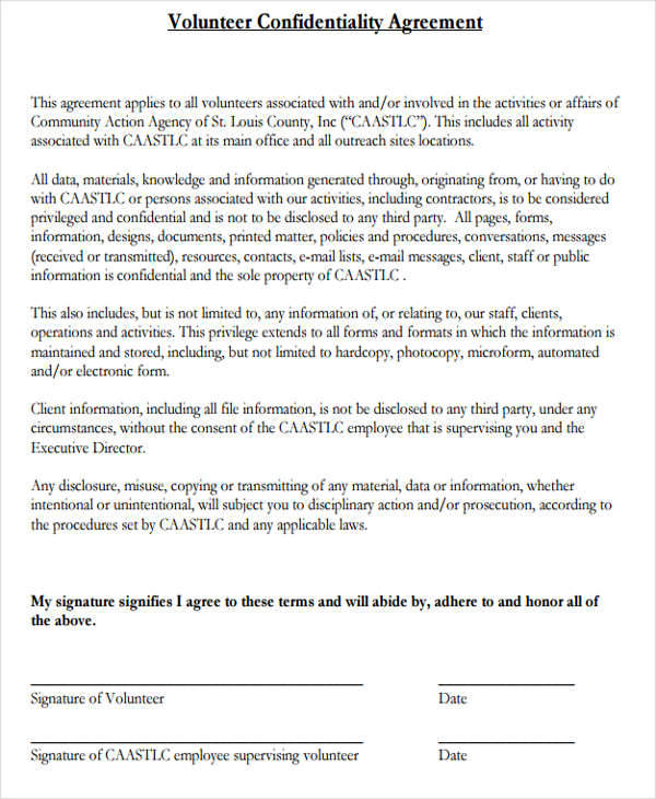 Client Confidentiality Agreements