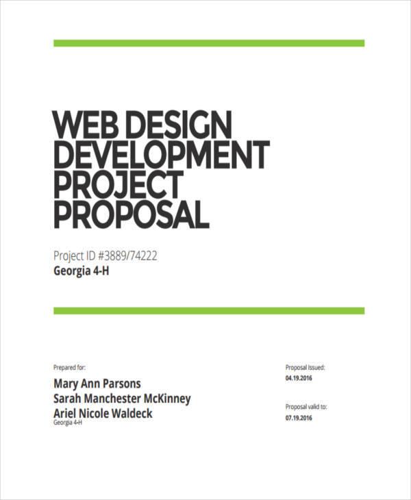 web development project proposal