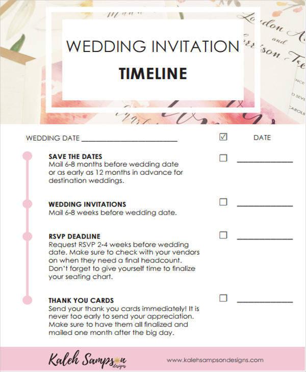Wedding Invitation Timeline: 40 Sample Timelines