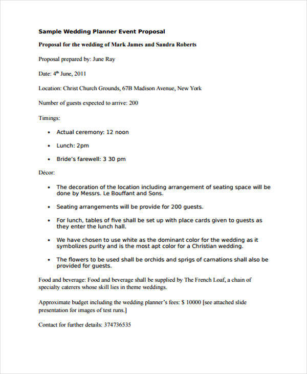 wedding planner event proposal1