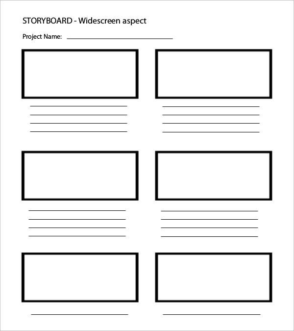 widescreen storyboard template