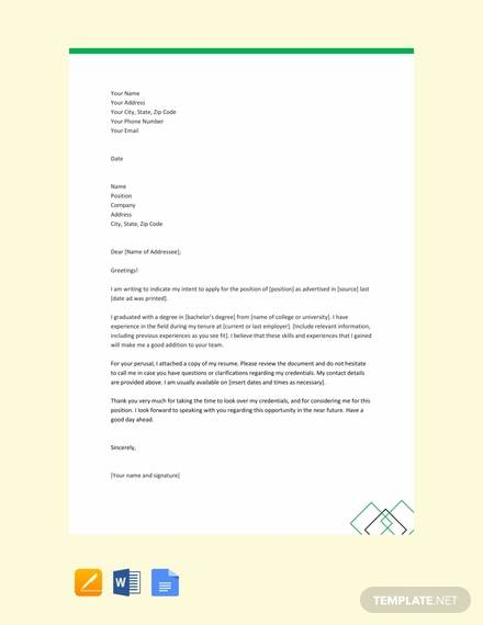 free simple letter of intent