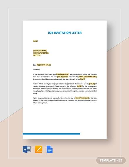 free 32  examples of invitation letter templates in pdf