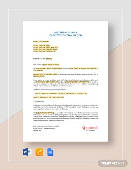 free 14  sample letter of intent in pdf