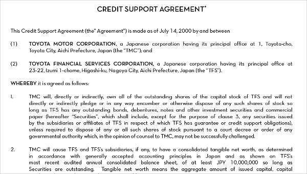 5 Hr Agreements Samples Templates Sample Templates