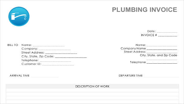6 job invoice templates examples in word pdf sample templates