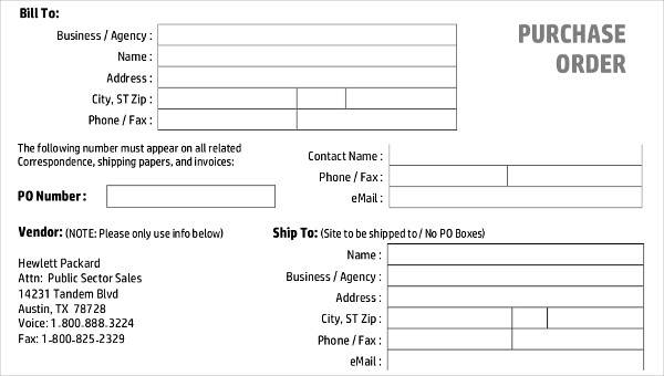 7 purchase invoice templates free sample example format