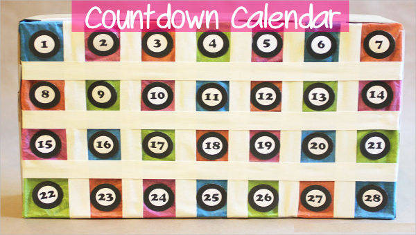 image about Countdown Calendar Printable named 8+ Countdown Calendar Template - Cost-free Pattern, Instance