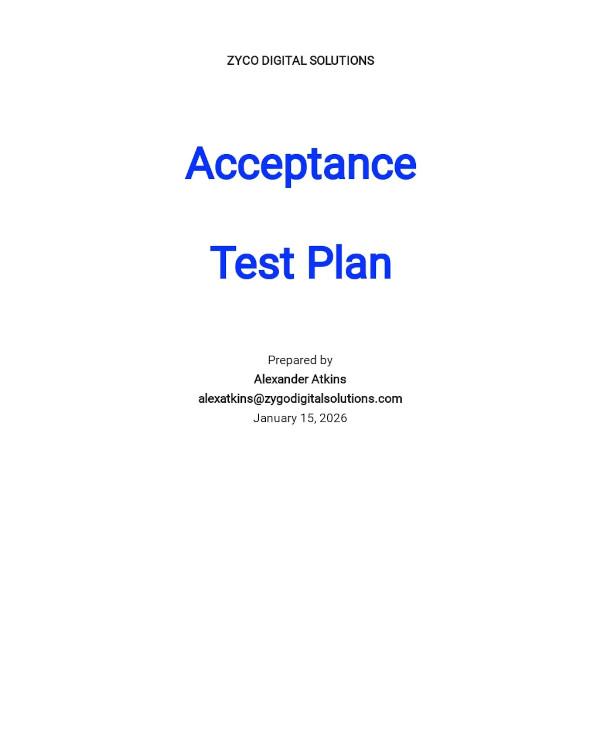 acceptance test plan template