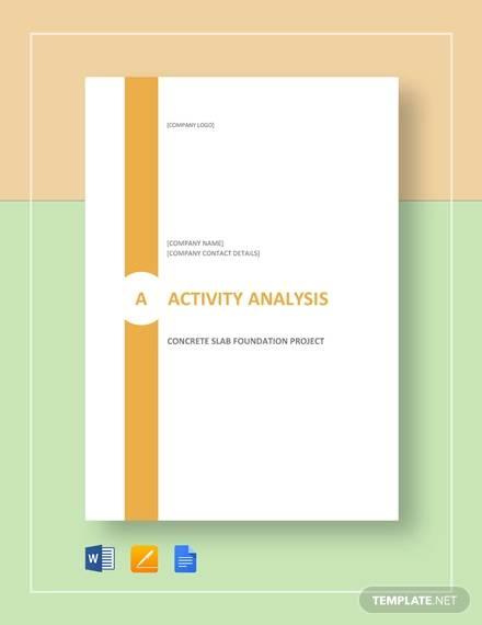 activity analysis example