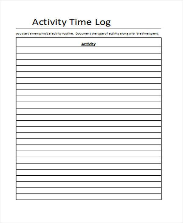 activity time log9