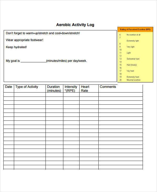 aerobic activity log2